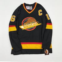 CCM NHL CANUCKS PLACE VINTAGE HOCKEY JERSEY STANLEY CUP CHAMPIONSHIP 1