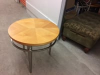 Brighten up your living room with the 3-piece set. Oblong table with two round matching end tables Alexandria