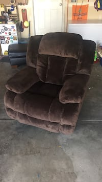 brown suede fabric sofa chair