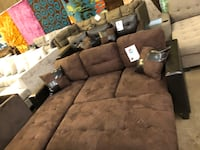 Sectional with ottoman. Brand new.  Mesquite