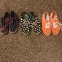 Galaxy shoes size 3. Daisy and orange size 7/8