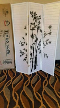 Brand New 3 Panel White Wood Room Divider  Silver Spring, 20910