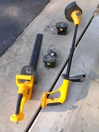 Tornado weedeater and hedge trimmer with chargers