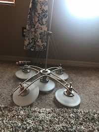 Black and white uplight chandelier price negotiable Commerce City, 80022