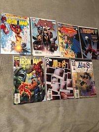 Comic books. 7 stocking stuffers.  Over 15 years old comic.  In mint condition.   Free delivery.  Includes superman avengers and Ironman and more London, N5Y 4A6