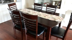 Table and 6 chairs .