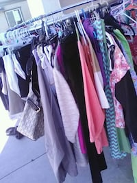 women's assorted clothes
