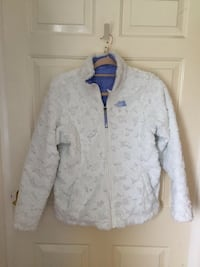 Blue / White Reversible The North Face Jacket Girls for 13-14 years Edinburgh