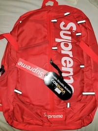 red and white Supreme backpack Surrey, V3R 4J6