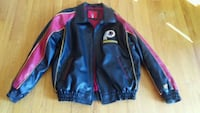 black and red leather zip-up jacket 44 km