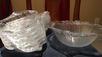 Salad bowl set with 12 bowls..attractive shell shape originally from bowrings