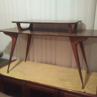 brown wooden framed glass top table El Paso, 79907