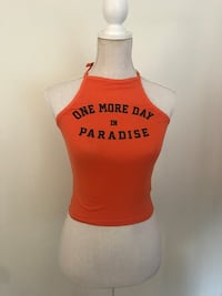 Oransje tank top, H&M divided Nyborg, 5131
