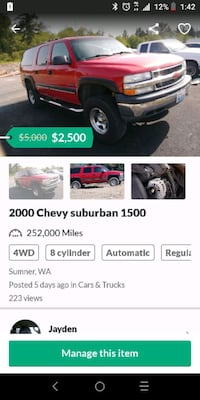 2000 - Chevrolet - Suburban Thurston County