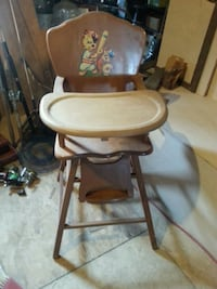 white and brown high chair Rockville, 20850