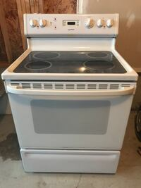 white and black induction range oven Innisfil, L9S