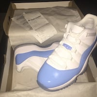 Pair of blue and white air jordan 11 Las Vegas, 89128