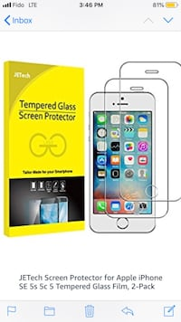 iPhone 5, 5S, 5C, SE Screen Protector Toronto, M1H 1A4