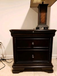 brown wooden 2-drawer nightstand Washington, 20036