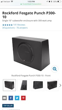 Subwoofer Rockford Fosgate powered subwoofer Lake View, 14085