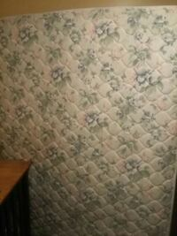 Queen mattress and box spring with bed frame