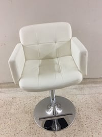 White leather padded armchair,adjustable like new one  Toronto, M2R 2A3