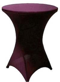 Pub Height Stretch Egglpant Table Cover