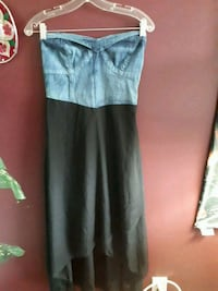 Jean and black strapless dress Brantford, N3T 0A9