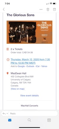 The Glorious Sons Ticket Calgary, T2Y 4B1