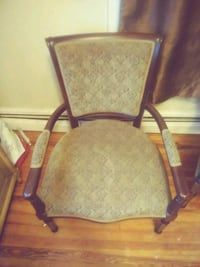 brown wooden frame padded armchair Baltimore, 21206