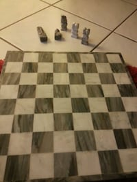 Hand crafted marble chessboard  Toronto, M6H 2X6