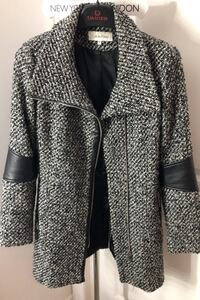 Calvin Klein wool 3/4 coat with leather trim Terrebonne, J6V 0B7