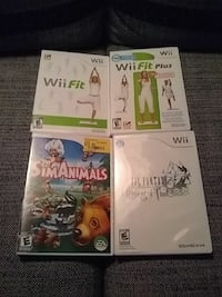 Wii games - Final Fantasy, Sim Animals, Rabbids
