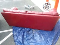Red leather couch  7 km