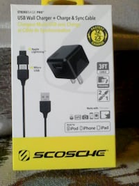 Scosche 2 in 1 wall charger for lightning & micro  Brampton