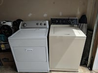 Whirlpool white washer and westing house dryer set. In good condition. Brunswick, 21758