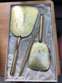 Two sets of vintage hair brush, mirror and comb still in the box  Toronto, M6M 2G1