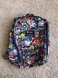 blue, yellow, and pink floral backpack Smithton, 62285