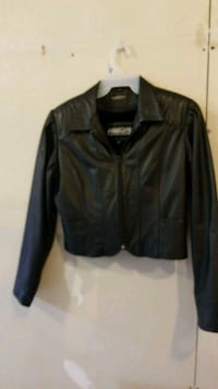 Woman leather jacket with removable warm liner 427 mi