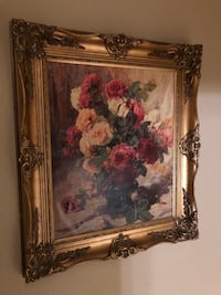 Large floral print with ornate gilt frame Springfield, 22151