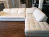 white genuine leather sectional for sale.    Lewisville