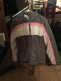 Ladies medium jacket with warm material inside. $8