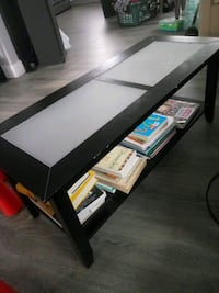 Glass plate coffee table 3ft 6in