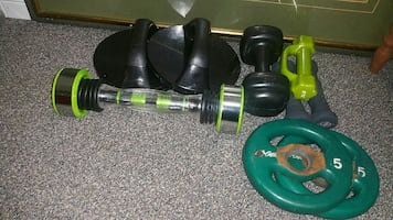 Assorted exercise equipments