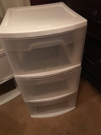 Plastic 3 drawer storage