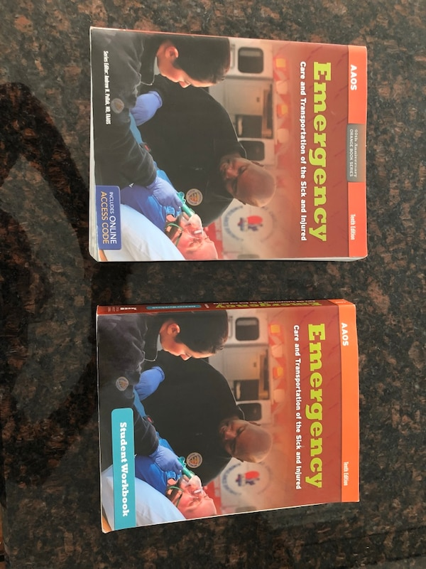 EMT Book Workbook AAOS 10th Edition Emergency Care And Transportation Of The Sick And Injured