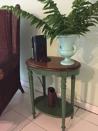Vintage green and wood table Miami, 33125