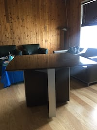 rectangular brown wooden table with chairs Calgary, T2A 5P7