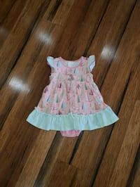 Matilda Jane happy camper skirted romper 12-18 months