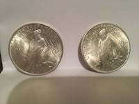 1922 and 1923 Silver Peace Dollars Adairsville